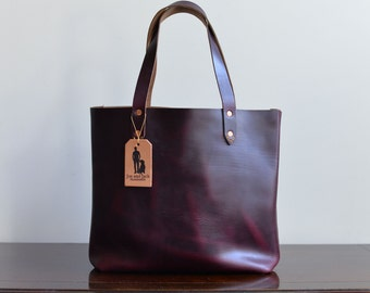 Customizable Leather Tote Bag
