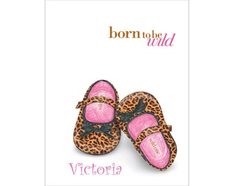 Personalized Baby Girl Note Cards, Leopard Print Baby Girl Stationery, Thank You Cards, Baby Shower Gift, New Baby Stationery, Notecards