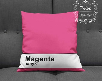 Magenta CMYK - Cushion - Pillow