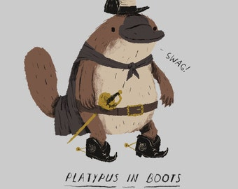 Platypus in boots T-shirt / platypus tee
