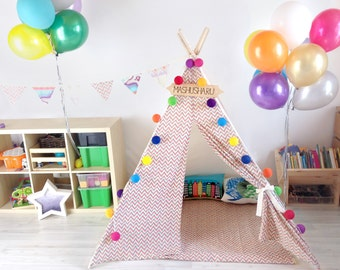 "Tepee/wigwam for children ""Zigzag"""