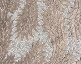Dusty pink lace fabric