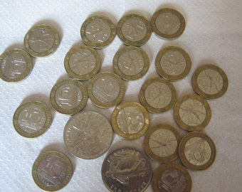 200 franc in 10 and 5 franc coins, banknotes, coins, 1986-1995,Sammelmünzen
