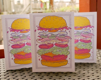 STACKED BURGER CARDS