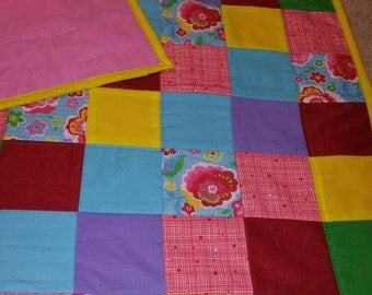 Hand made floral baby quilt