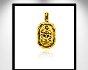 Vermeil during cartridge _ pendant cartridge gilt scarab beetle