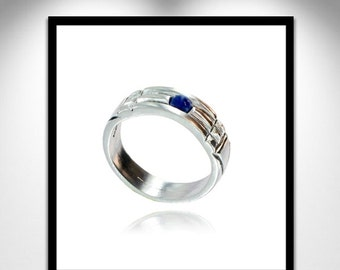Atlantis ring silver and lapis lazuli _ ring silver Atlante and lapis lazuli