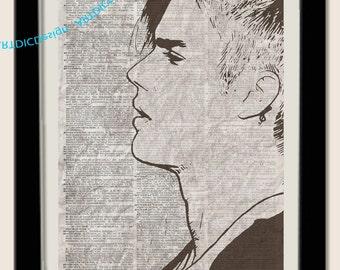 Justin Bieber Dictionary page Prints - Justin Bieber Poster- Digital Files - Instant Download