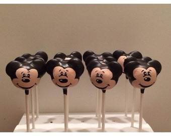 12 Mickey Mouse cake pops