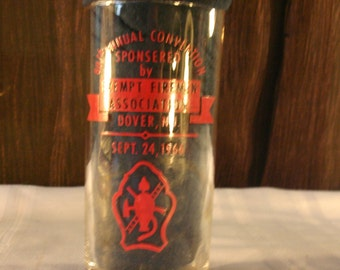 Dover Exempt Firemen's Assoc 80th Convention Firemen's Glass