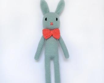Crochet bunny. Amigurumi bunny. Bunny doll.