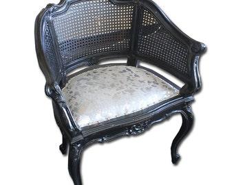 Cowhide Cane Chair