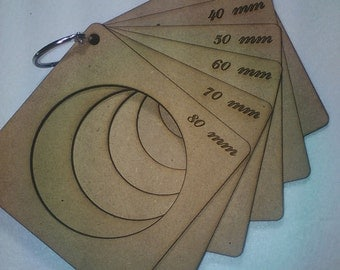 Lot of 6 templates for thermoforming fofuchas 80MM-70MM-60MM-50MM-40MM-30MM heads