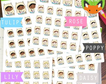 Llama Planner Girls Kawaii Girls Planning Time Sticker Set - Planner Stickers - Planner ...