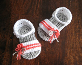 Crochet pattern baby sandals flower Photo Tutorial  Instant Download Nr.31