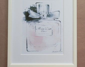 DIOR LIMITED EDITION water colour print by Faye Jepson