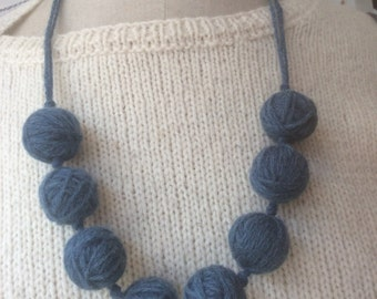 Woad balls necklace