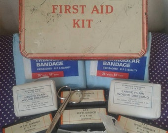 1940s/50s First aid kit tin and contents