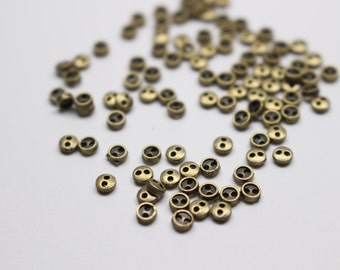 B019F Old Metal Color Mini 3mm Doll Buttons Sewing Craft Doll Clothes Making Sewing Supply TEN BUTTONS