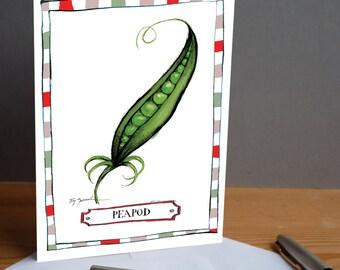 peapod -  fun greeting card