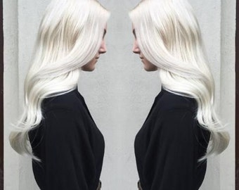 Creame Blonde European Clip in Extensions/120grams Full head set Luxury Quality/100% Human Hair Re-usuable guranteed