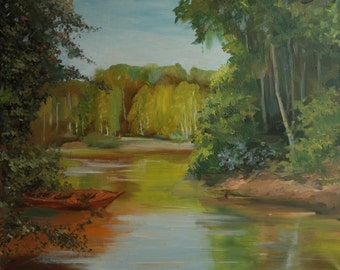 Forest lake (60x50 cm)