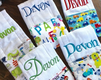 Burp Cloth Set, Burp Cloth, monogram Burp Cloth, Embroidered Burp Cloth set, Personalized burp cloth set, new baby gift