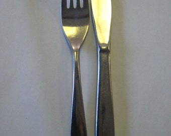 Playboy Club Flatware Fork and Knife Reed and Barton Stainless