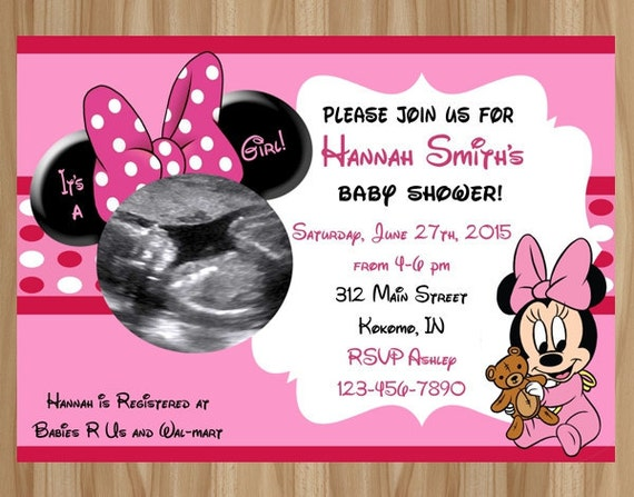 minnie mouse shower invitation minnie mouse baby shower minnie mouse