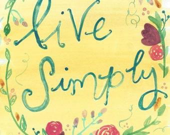 Live Simply