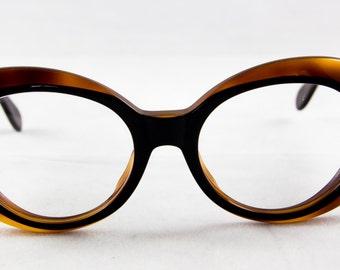 new old stock anne klein plastic eyeglass frame large round tortoise wide temples incredible wow must - Wide Eyeglass Frames