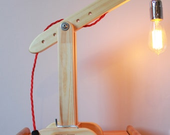 Wooden Desk Lamp