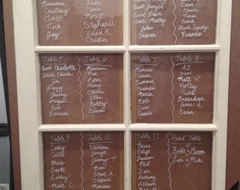 Wedding Decoration: Rustic Window Seating Chart