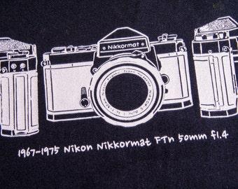 Camera T Shirt 1965~1967 Nikon Nikkormat FT 50mm f1.4