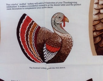 Vintage Panel 147. Thanksgiving Turkey with FREE SHIPPING