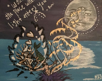 The Wound Rumi Quote Painting