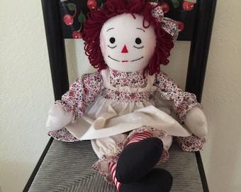 Custom made, personalized Raggedy Ann dolls