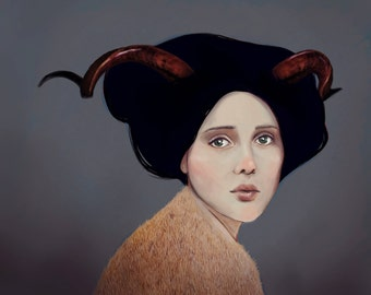 Succubus - Print of Original Digital Painting by Megan Moulos