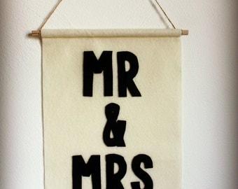 Mr. & Mrs. Felt Banner