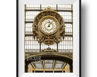 Paris Musée d'Orsay Clock Photo - (clocks orsay travel photography)