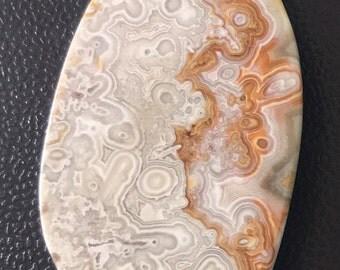 Crazy Lace Agate 30x58 mm freeform Cabochon
