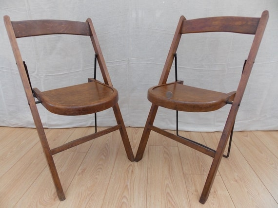 Vintage 1939 Stakmore Folding Chair by OakwellAntiques on Etsy