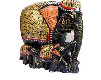 elephant  family painted