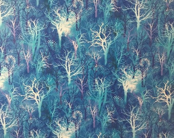 Fabric by the yard-Winter Blues Large Forest