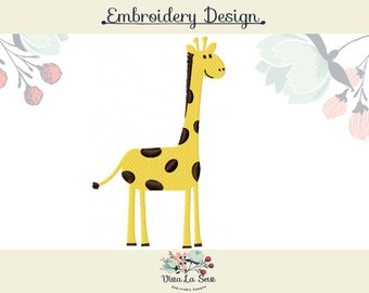 Giraffe Embroidery Design, fill stitch