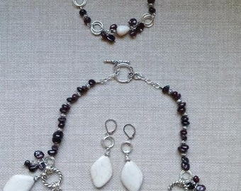 Custom Handmade Fine Jewelry Set  with Natural Brazilian Stones