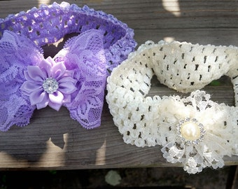 Head Band Lavender-baby head band-toddler head band-head band girls all ages-baby bow head band-head band flower-gift girl
