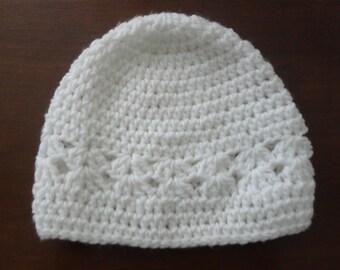 White Knit Child Hat