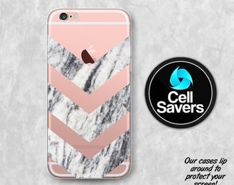 Marble Chevron Clear iPhone 7 iPhone 6s Case iPhone 6 Case iPhone 6 + iPhone 6s + iPhone 5c iPhone 5 iPhone SE Marble Chevron Pattern Tumblr