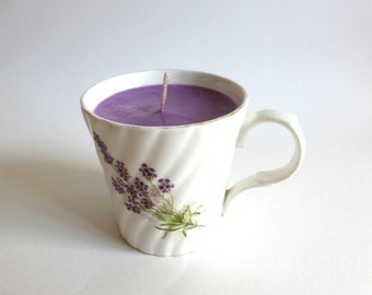Unique Lavender Scented Tea Cup Candle